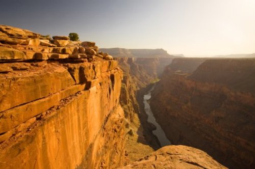 The Colorado River, that over around four million years slowly but repeatedly carved the rocks, being one of the main factors for the creation of the Grand Canyon.