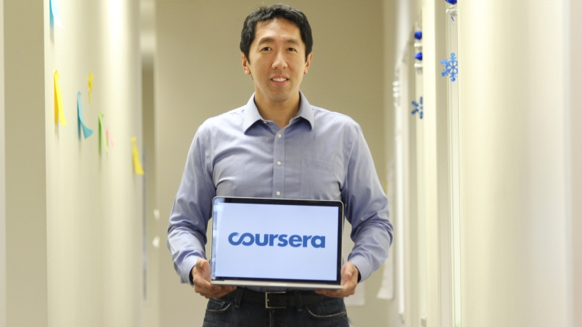 Andrew Ng, founder of Coursera and lecturer on Machine Learning, one of the best MOOCs I took so far.