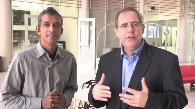 Dr. Ramesh Yerraballi and Professor Jonathan Valvano in a video from the course Embedded Systems - Shape The World, another excelent course,; this one from EdX.